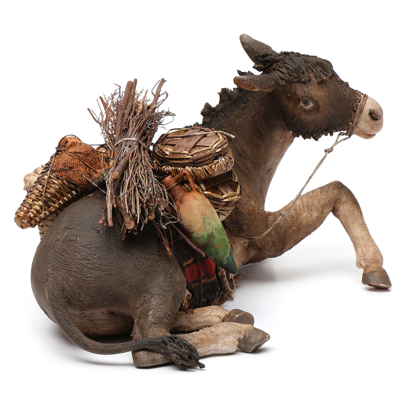 Donkey, 30cm in terracotta by Angela Tripi 4