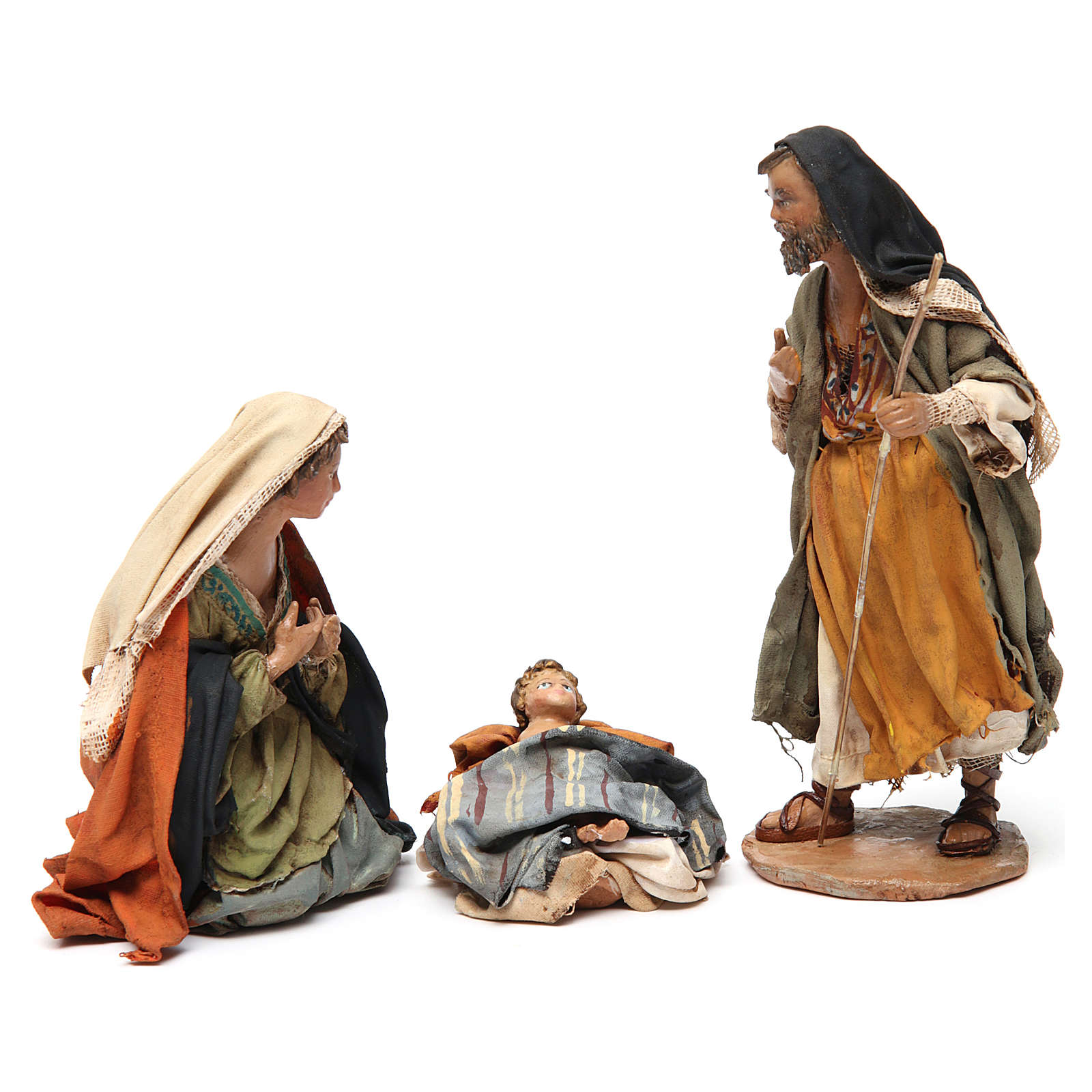 Sainte famille terre cuite Angela Tripi 13 cm 4