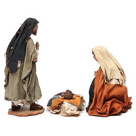 Nativity scene figurines, Holy Family 13cm, Angela Tripi s6