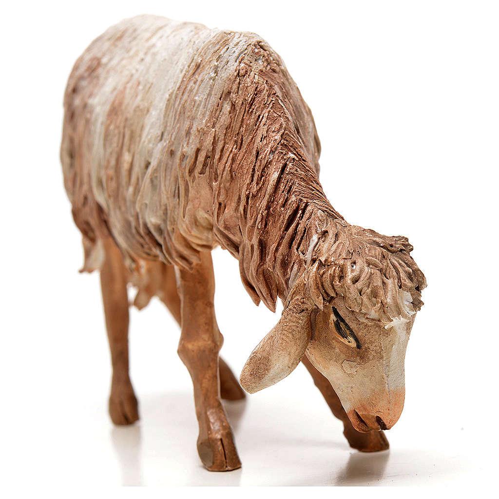 Ovelha em pé pastando 18 cm Angela Tripi terracota 4