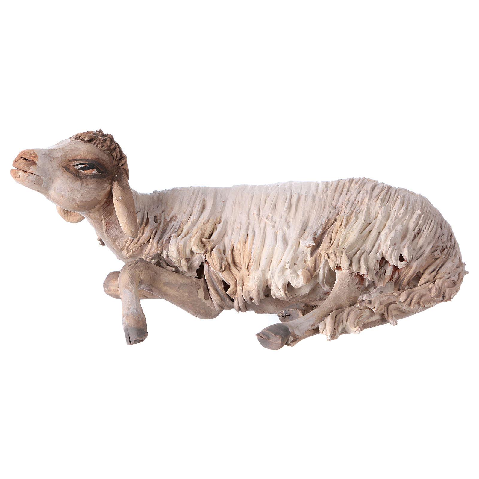 Nativity scene terracotta figurine, sheep 18cm, Angela Tripi 4