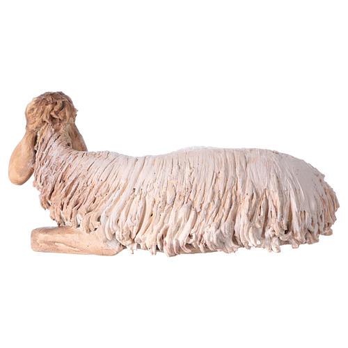 Nativity scene terracotta figurine, sheep 18cm, Angela Tripi 3