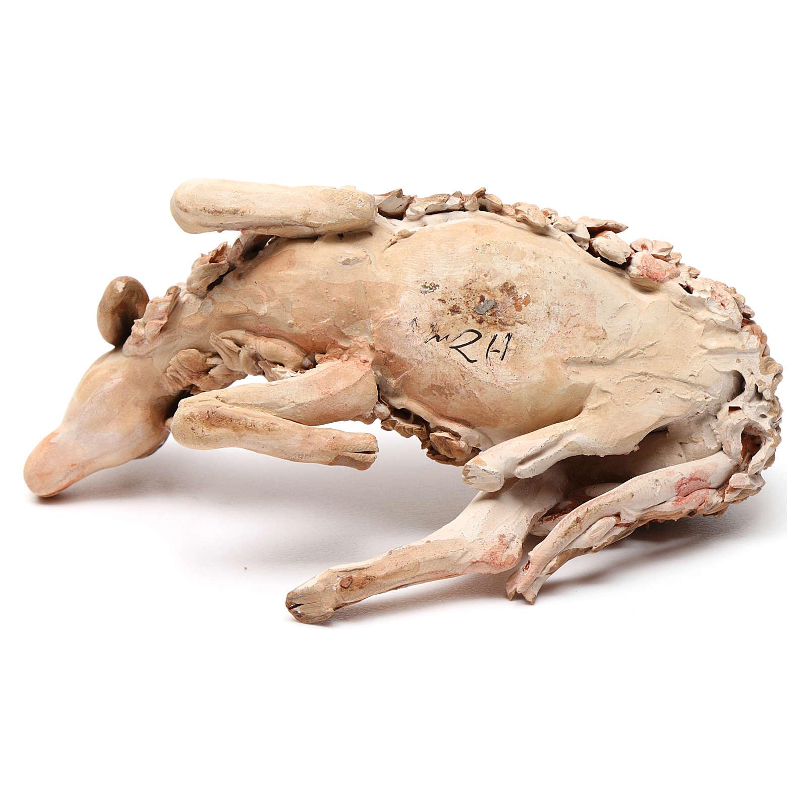 Owca odpoczywająca 18 cm Angela Tripi terakota 4