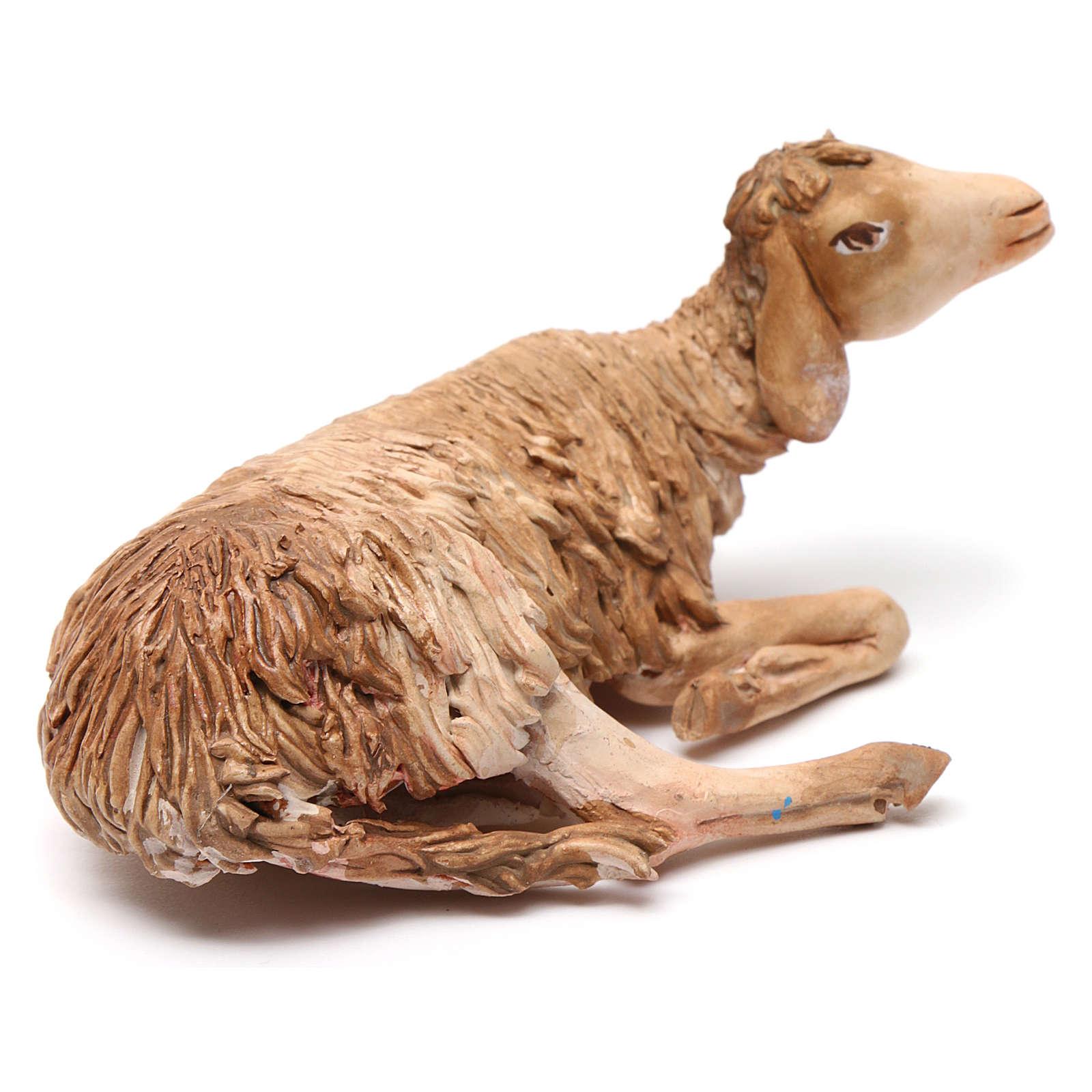 Nativity scene figurine, lying sheep 18cm, Angela Tripi 4