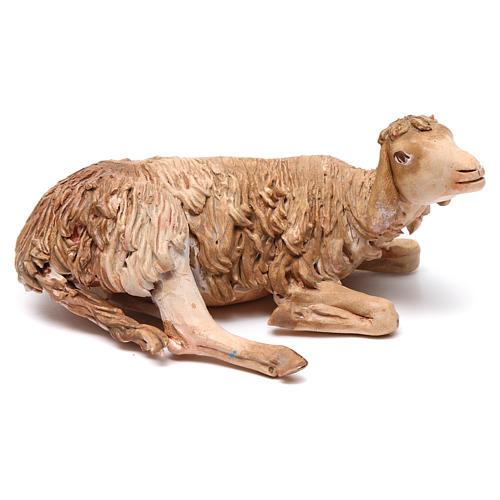 Nativity scene figurine, lying sheep 18cm, Angela Tripi 1