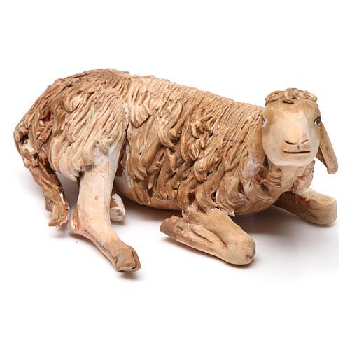 Nativity scene figurine, lying sheep 18cm, Angela Tripi 3