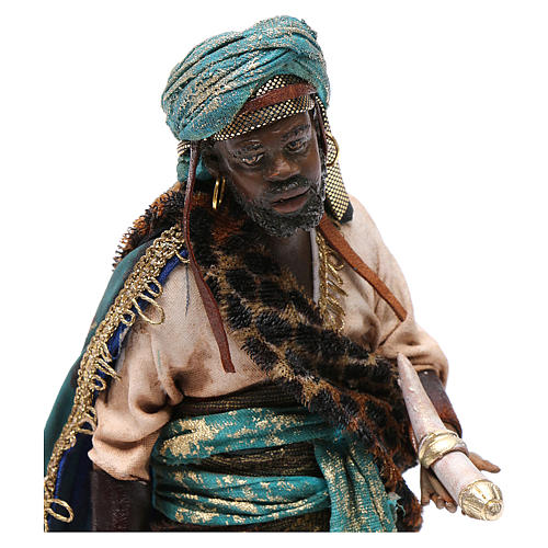 Rey Mago negro 18cm Angela Tripi terracota 2