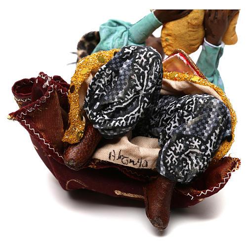 Re Magio nero 18 cm Angela Tripi terracotta 6