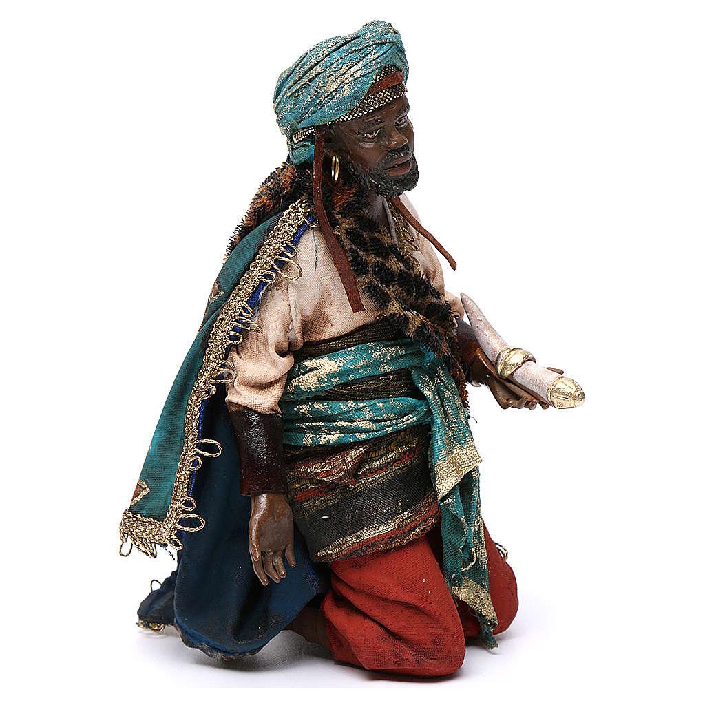 Nativity scene, Ethiopian Wise Man 18cm, Angela Tripi 4