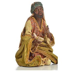 Nativity scene, Ethiopian Wise Man 18cm, Angela Tripi s10