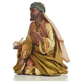 Nativity scene, Ethiopian Wise Man 18cm, Angela Tripi s12