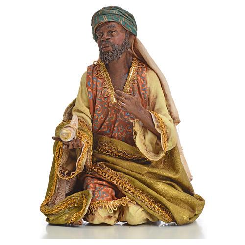 Nativity scene, Ethiopian Wise Man 18cm, Angela Tripi 7