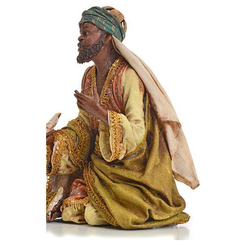 Nativity scene, Ethiopian Wise Man 18cm, Angela Tripi 8