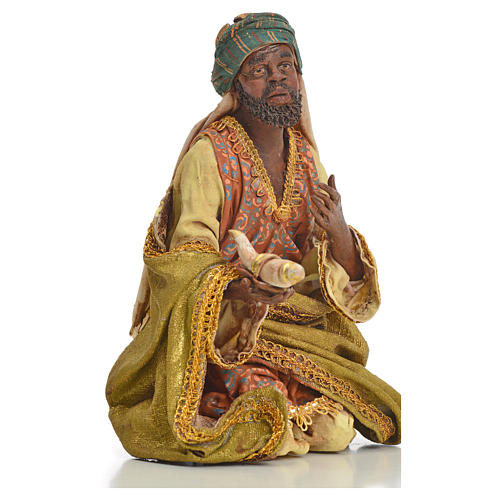 Nativity scene, Ethiopian Wise Man 18cm, Angela Tripi 10