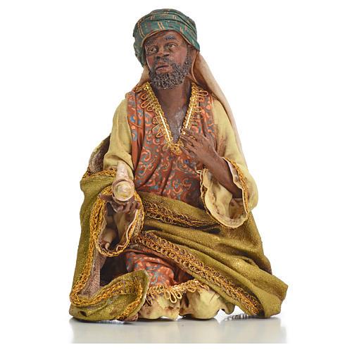 Nativity scene, Ethiopian Wise Man 18cm, Angela Tripi 11