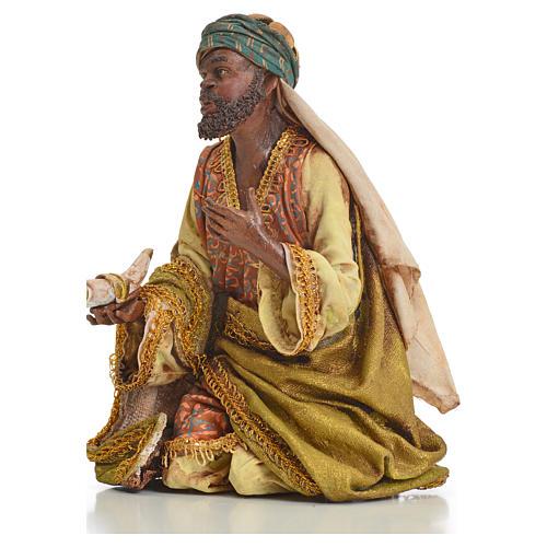Nativity scene, Ethiopian Wise Man 18cm, Angela Tripi 12