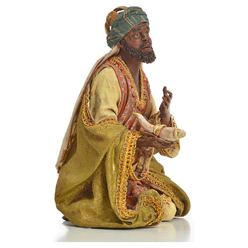Nativity scene, Ethiopian Wise Man 18cm, Angela Tripi 14