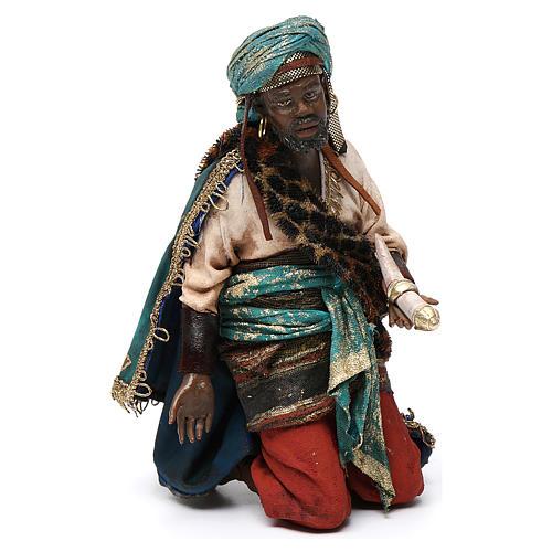 Nativity scene, Ethiopian Wise Man 18cm, Angela Tripi 1