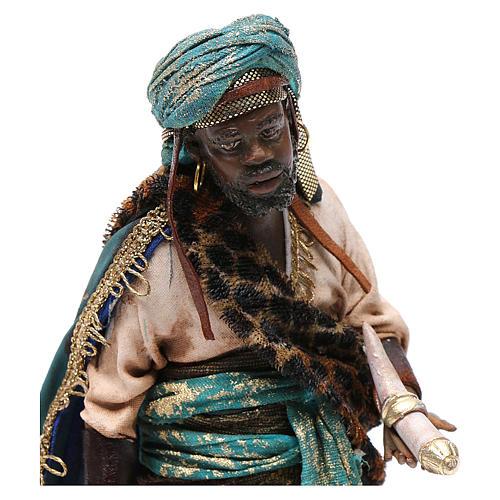 Nativity scene, Ethiopian Wise Man 18cm, Angela Tripi 2