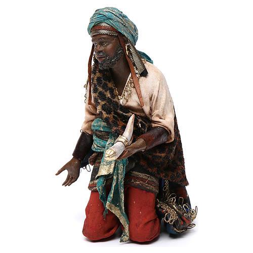 Nativity scene, Ethiopian Wise Man 18cm, Angela Tripi 3