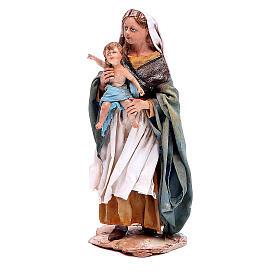 Femme à l'enfant crèche Angela Tripi 18 cm s2