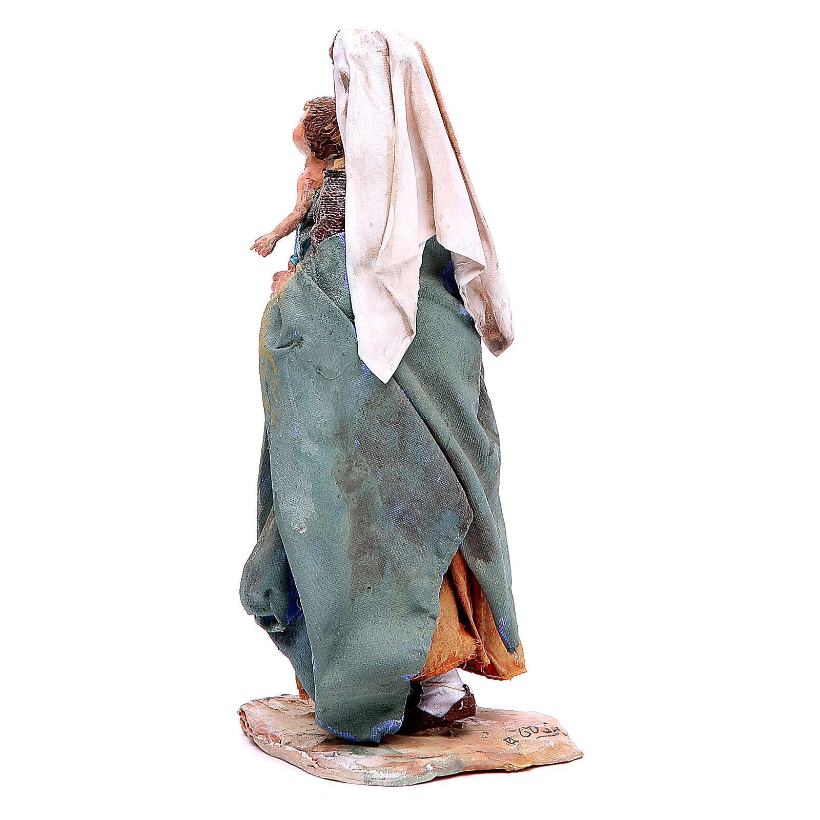 Donna con bimbo 18 cm Angela Tripi terracotta 4