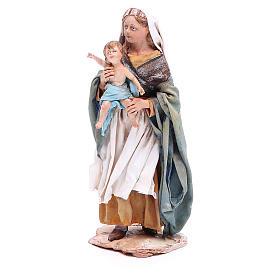 Donna con bimbo 18 cm Angela Tripi terracotta s2