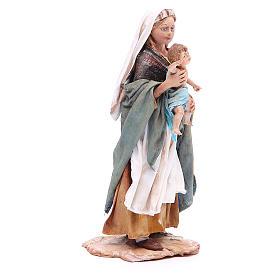 Donna con bimbo 18 cm Angela Tripi terracotta s4