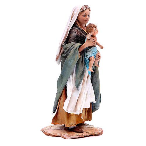 Donna con bimbo 18 cm Angela Tripi terracotta 3