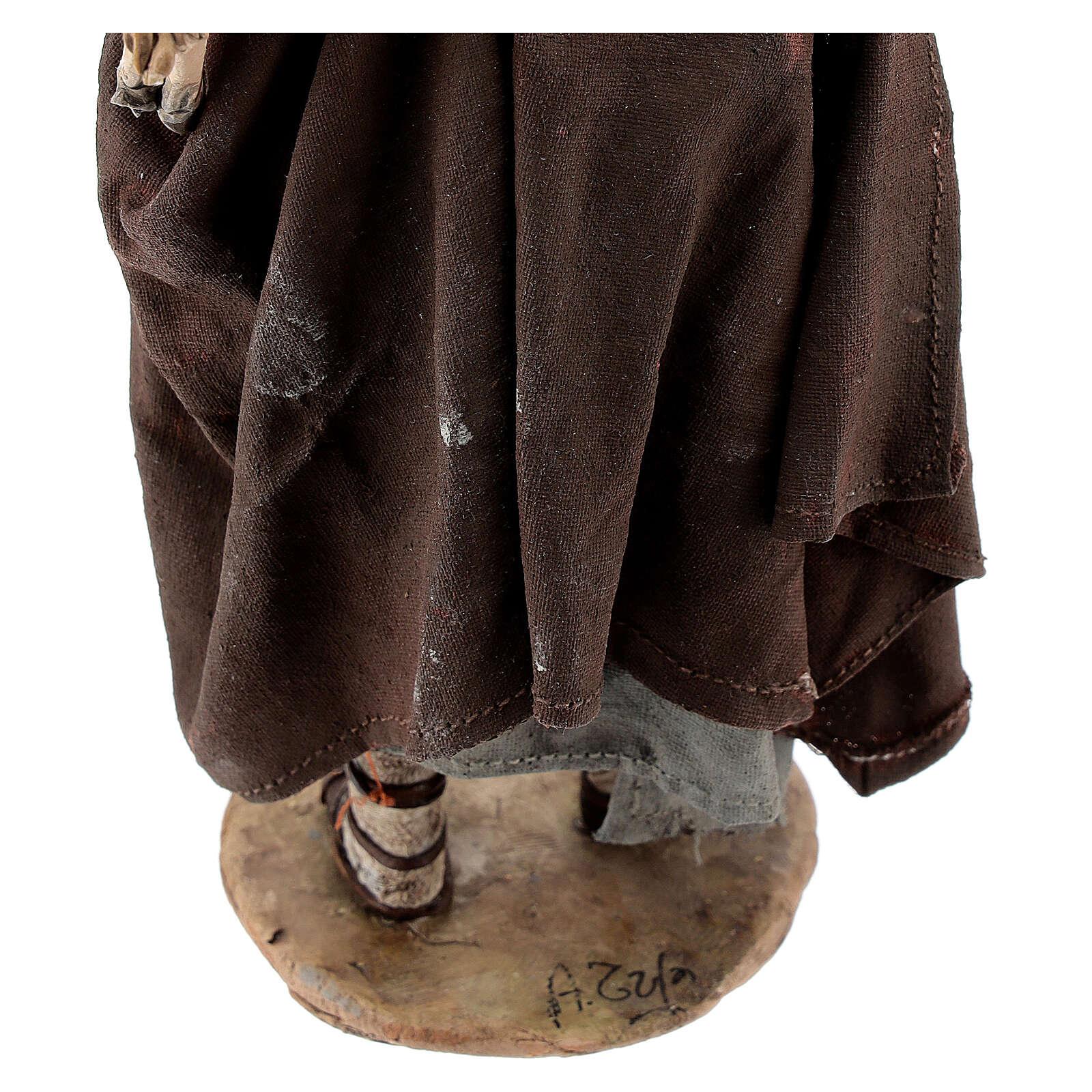 Buon pastore 18 cm Angela Tripi terracotta 4