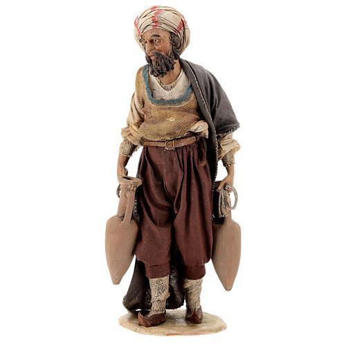 Nativity scene figurine, shepherd with amphora 18cm, Angela Trip 1