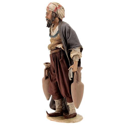 Nativity scene figurine, shepherd with amphora 18cm, Angela Trip 3