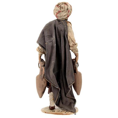 Nativity scene figurine, shepherd with amphora 18cm, Angela Trip 5