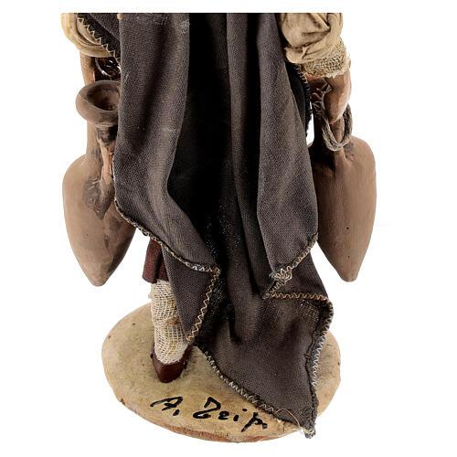 Nativity scene figurine, shepherd with amphora 18cm, Angela Trip 6