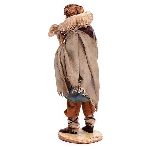 Pastor con oveja 18cm Angela Tripi terracota 3