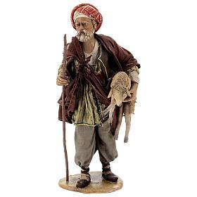 Pastore con pecora 18 cm Angela Tripi terracotta s1