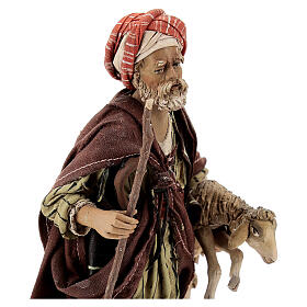 Pastore con pecora 18 cm Angela Tripi terracotta s2