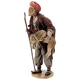 Pastore con pecora 18 cm Angela Tripi terracotta s3