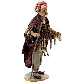 Pastore con pecora 18 cm Angela Tripi terracotta s5