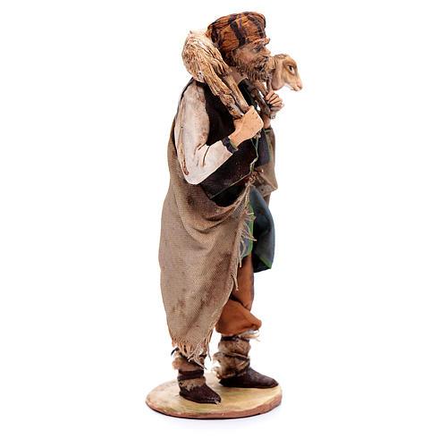 Pastore con pecora 18 cm Angela Tripi terracotta 4