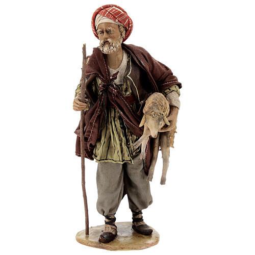 Pastore con pecora 18 cm Angela Tripi terracotta 1