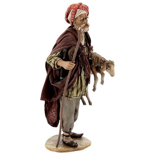 Pastore con pecora 18 cm Angela Tripi terracotta 5