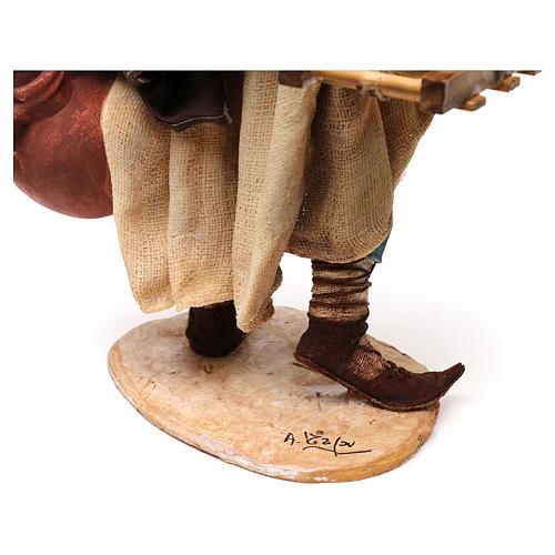 Berger en adoration crèche Angela Tripi 30 cm terre cuite 6