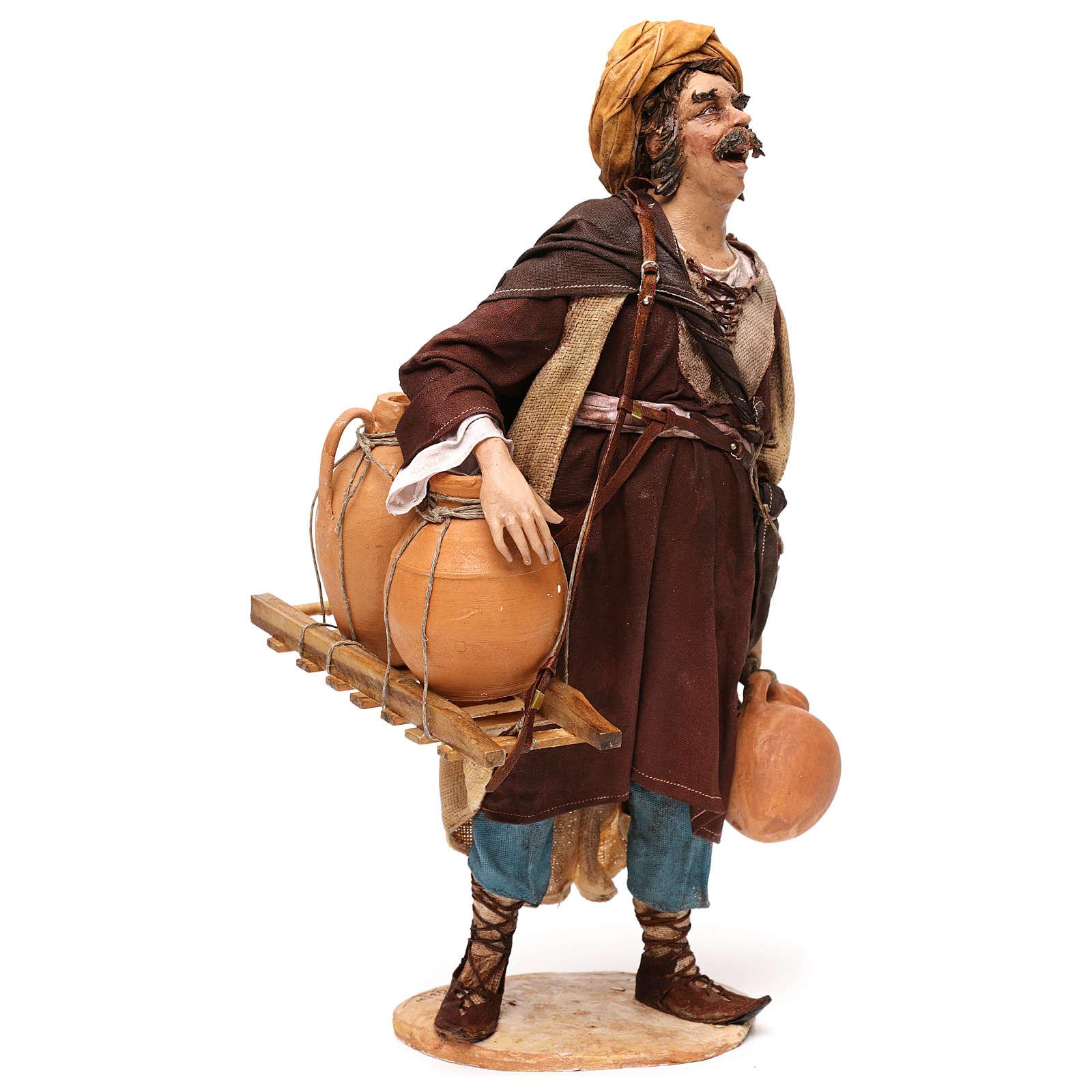 Pastore portatore di anfore 30 cm Angela Tripi terracotta 4
