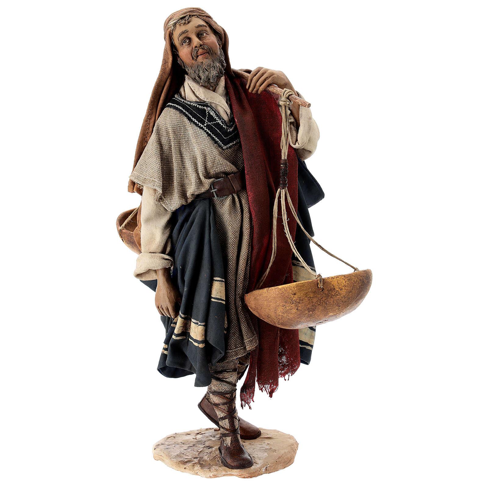 Pastore con bilancia 30 cm Angela Tripi terracotta 4