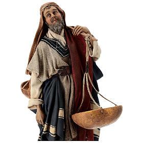 Pastore con bilancia 30 cm Angela Tripi terracotta s2