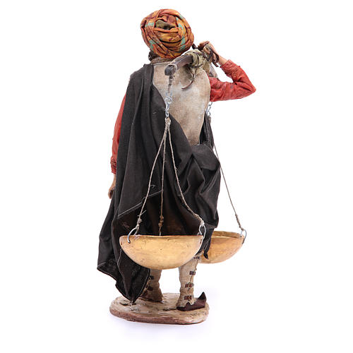 Pastore con bilancia 30 cm Angela Tripi terracotta 3