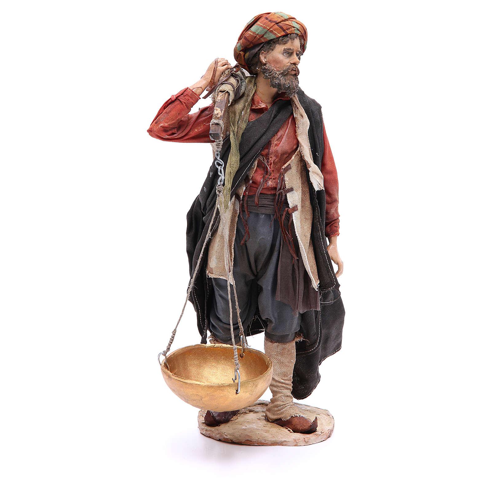 Nativity scene figurine, shepherd with scale 30 cm, Angela Tripi 4
