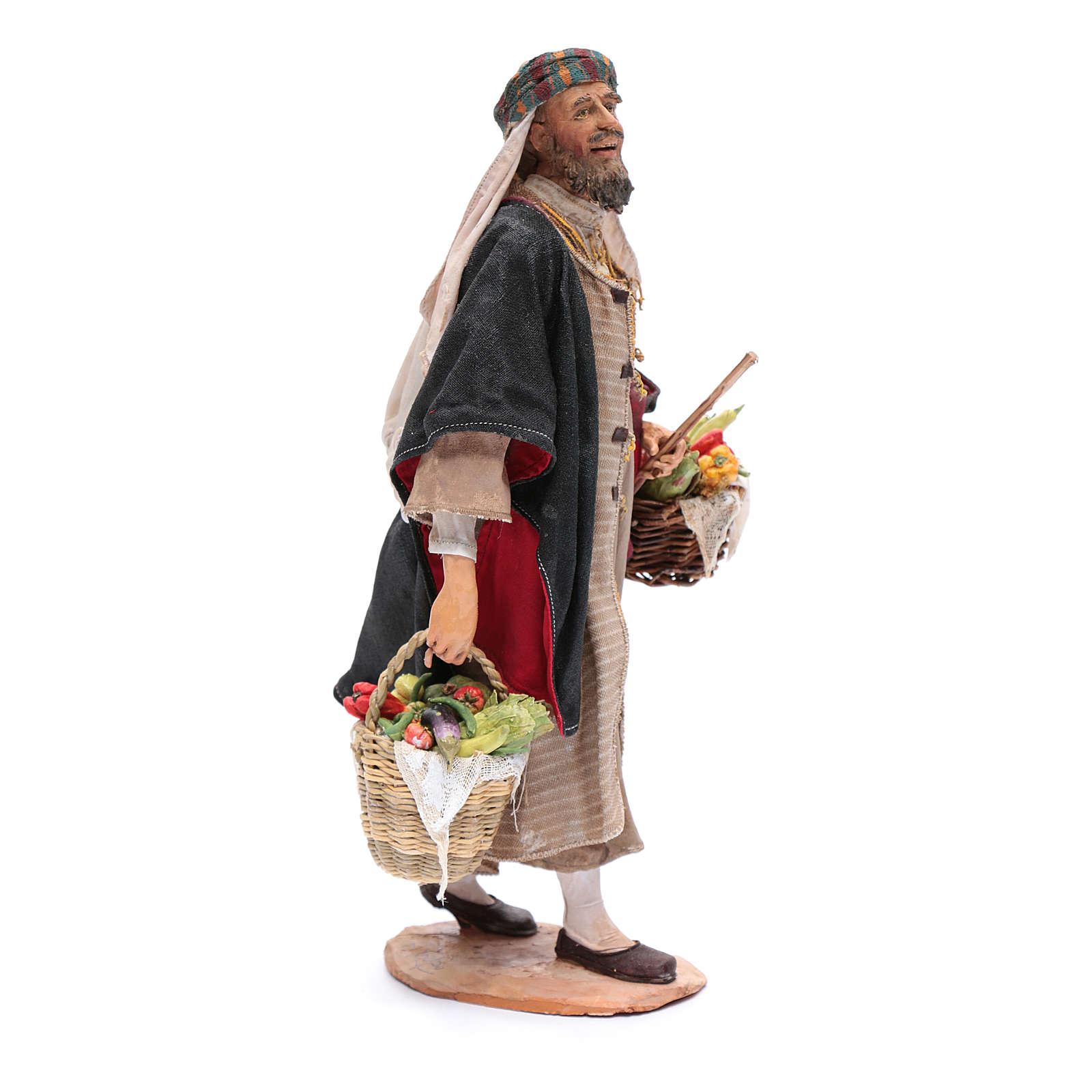Homme aux légumes crèche Angela Tripi 30 cm 4