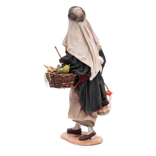 Homme aux légumes crèche Angela Tripi 30 cm 3